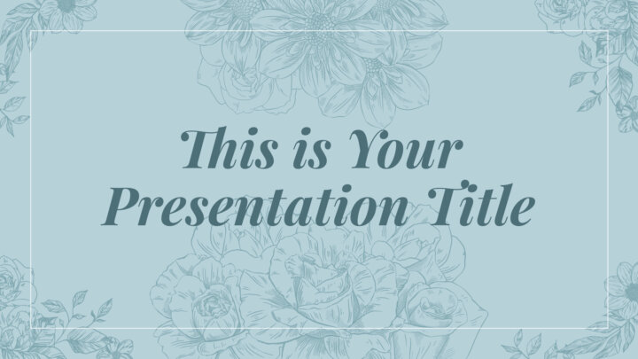 Stylish Flowers. Free PowerPoint Template & Google Slides Theme