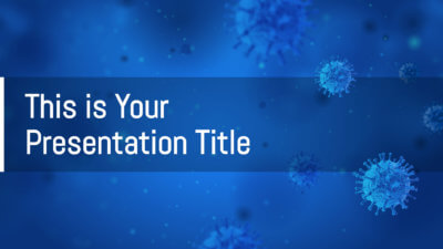 Free medical Powerpoint template or Google Slides theme with virus theme