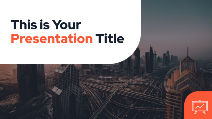 Free corporate Powerpoint template or Google Slides theme with photo backgrounds