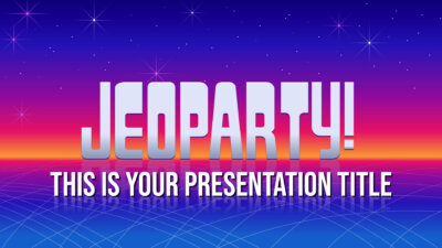 Free interactive Jeopardy Powerpoint template and Google Slides theme