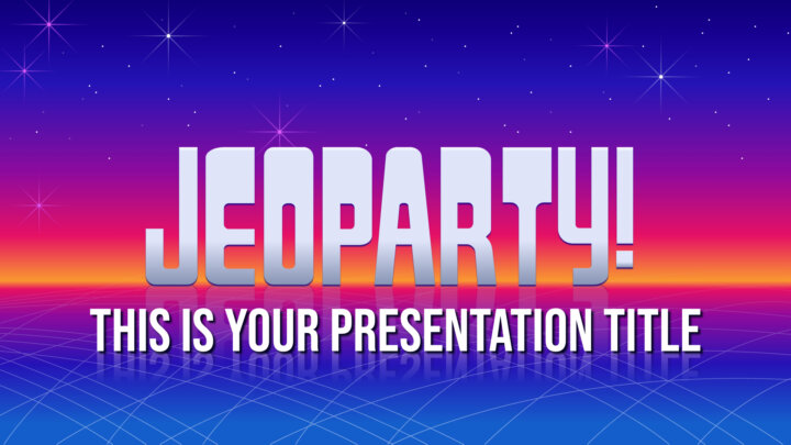 Interactive Jeopardy. Free PowerPoint Template & Google Slides Theme