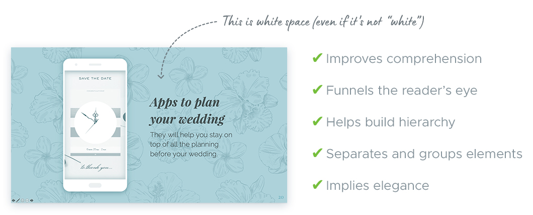 Tips For Working With White Space In Your Presentation Slides: What is white space