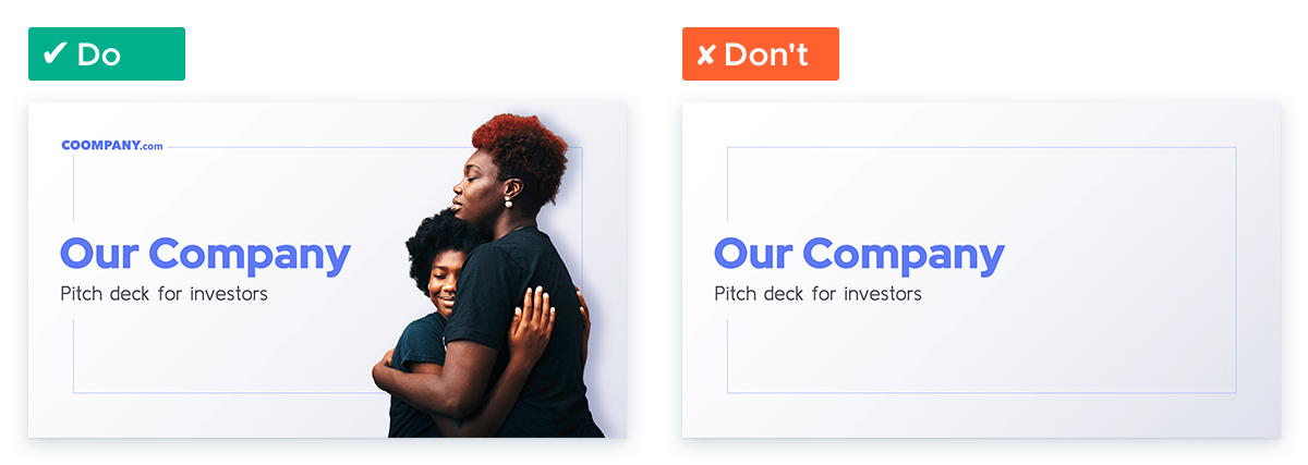 Pitch Deck Design: Clear and intriguing cover