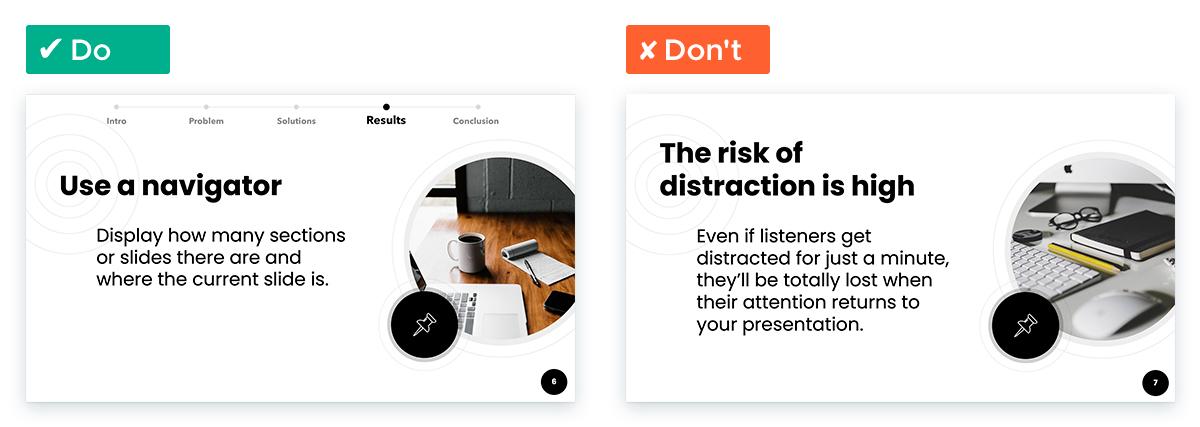 Tips to Deliver a Killer Remote Presentation: Use a navigator