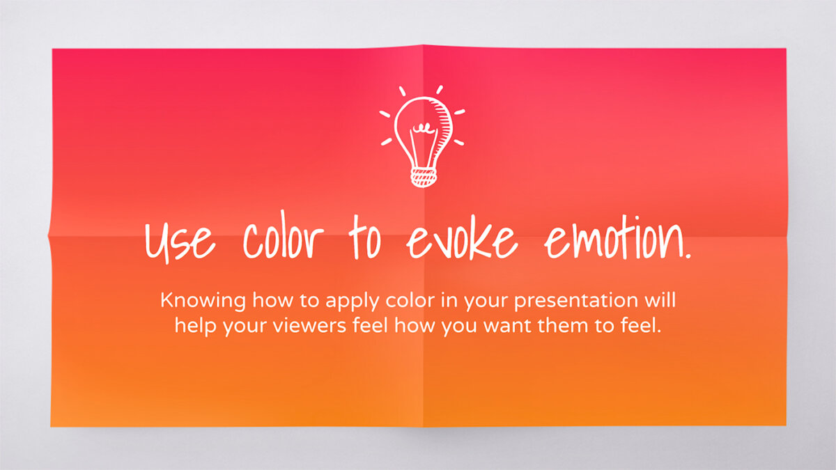 Use Visual Communication To Elevate Your Presentations - Master the use of color