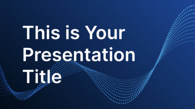 Free corporate PowerPoint template and Google Slides theme with data particles