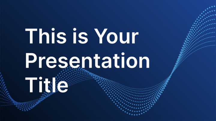 Data Particles. Free PowerPoint Template & Google Slides Theme