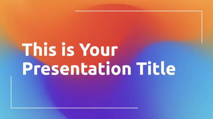 Rainbow Gradients. Free PowerPoint Template & Google Slides Theme
