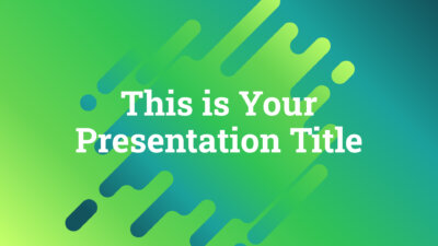 Free modern Powerpoint template and Google Slides theme in neon green color