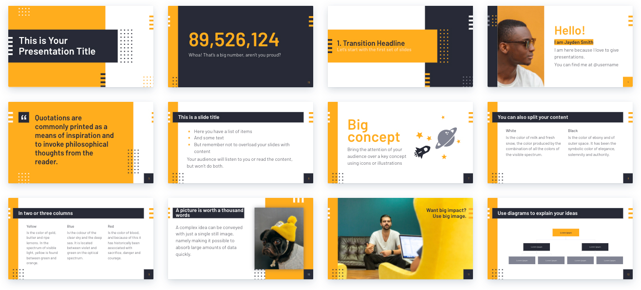 Design Tips for Non-Designers To Use In Your Next Presentation - Use repetition for consistency