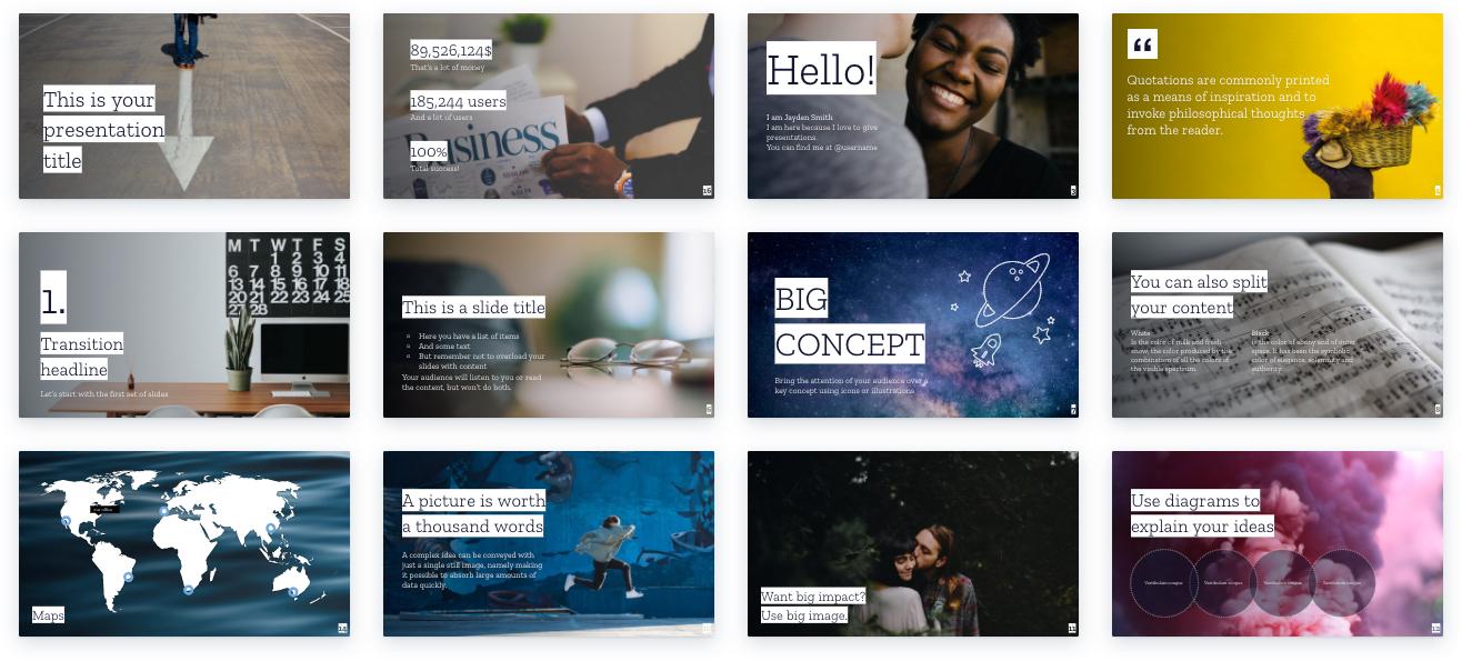 Reasons to Start Using Presentation Templates: Design principles already applied