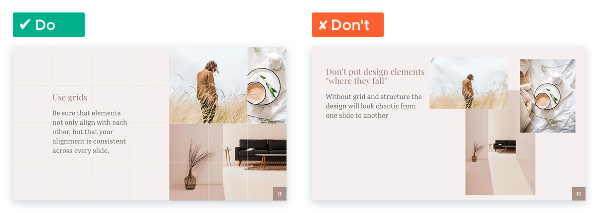 Design Tips for Non-Designers To Use In Your Next Presentation - Use grids