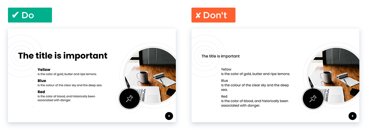 Easy Tricks for Designing a Text-heavy Presentation: Make the most of text hierarchy