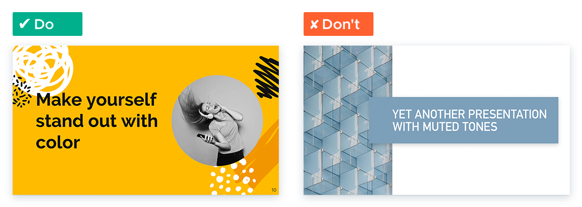Design Tips for Non-Designers To Use In Your Next Presentation - Go bright