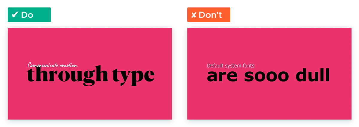 Design Tips for Non-Designers To Use In Your Next Presentation - Mood with type