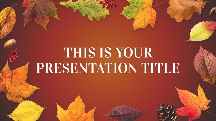 Autumn Leaves. Free PowerPoint Template & Google Slides Theme