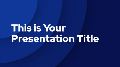 Free modern Powerpoint template and Google Slides theme with concentric blue circles