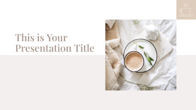 Free stylish PowerPoint template and Google Slides theme with neutral colors