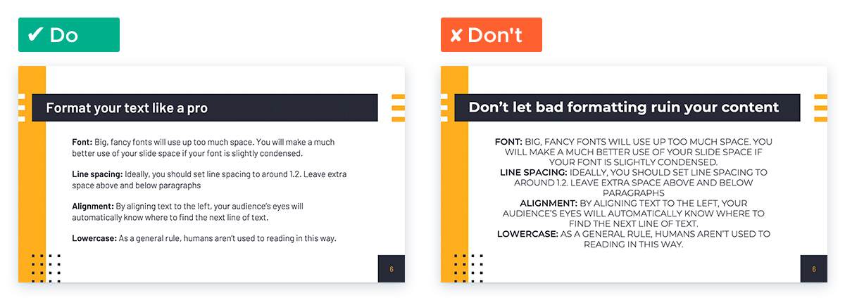 Easy Tricks for Designing a Text-heavy Presentation: Format Text like a Pro