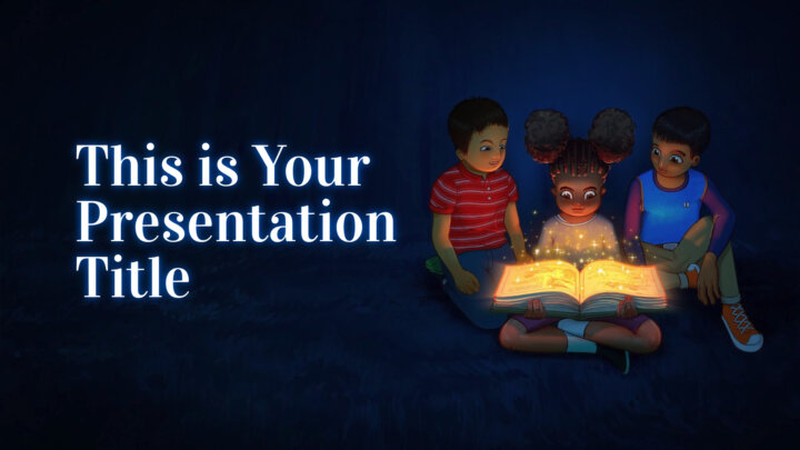 Reading is Magical. Free PowerPoint Template & Google Slides Theme