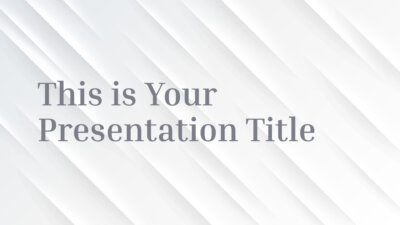 Free elegant Powerpoint template and Google Slides theme with subtle relief effect