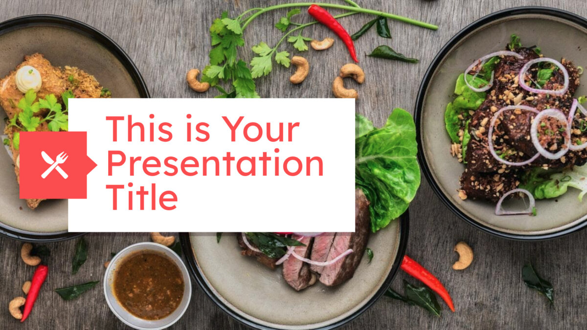 Free modern PowerPoint template and Google Slides theme with food photos
