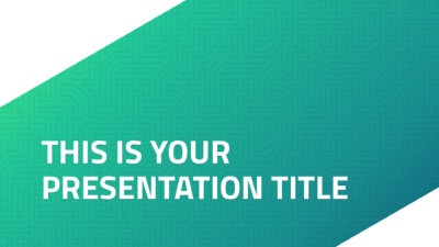 Free technology PowerPoint template and Google Slides theme with green circuit