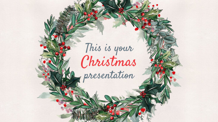 Winter Christmas. Free PowerPoint Template & Google Slides Theme
