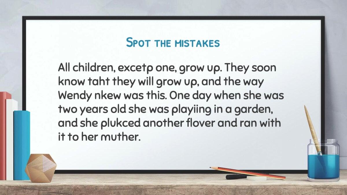 Free Presentation Templates for Teachers - Spot the mistakes