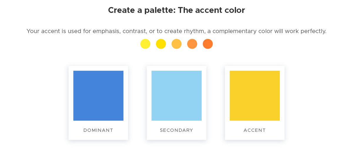 Create a palette - 3 The accent color
