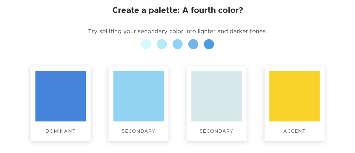 Create a palette - 4 A fourth color