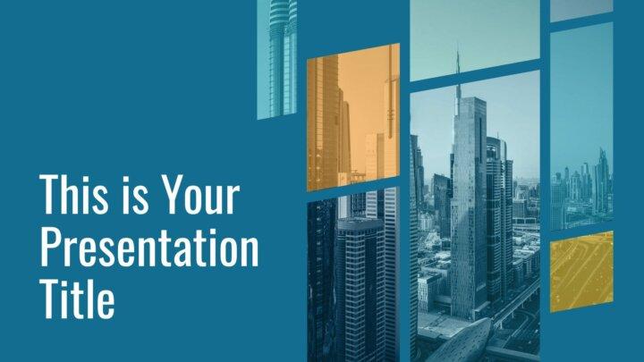Corporativa Geométrica. Plantilla PowerPoint gratis y tema de Google Slides