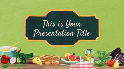 Free food Powerpoint template and Google Slides theme with healthy ingredients