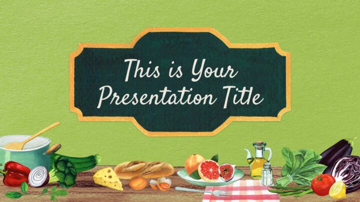Real Food. Free PowerPoint Template & Google Slides Theme