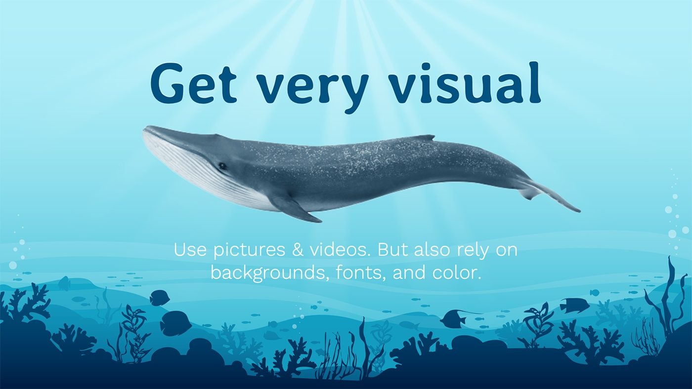 How to make an engaging presentation for kids - Get very visual