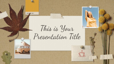 Free inspiring Powerpoint template and Google Slides theme with vintage moodboard style