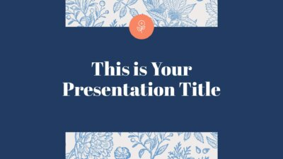 Free stylish Powerpoint template or Google Slides theme with botanical illustrations