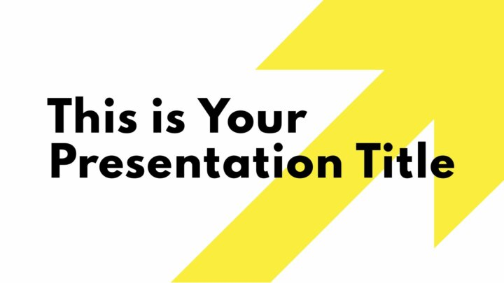 Yellow Arrow. Free PowerPoint Template and Google Slides Theme.