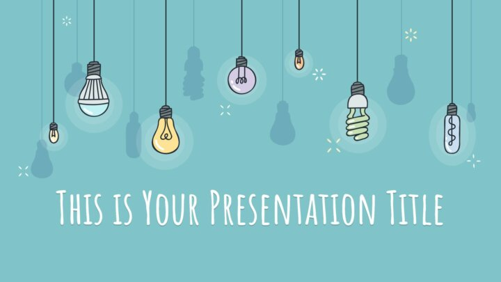 Colorful Light Bulbs. Free PowerPoint Template and Google Slides Theme.