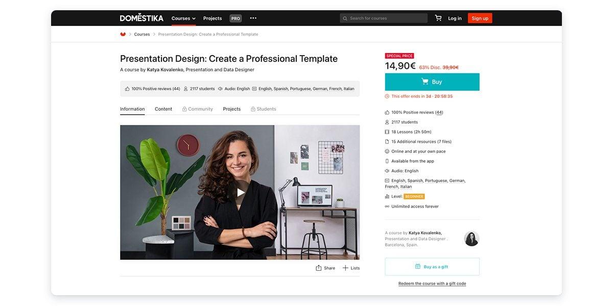 Presentation Design: Create a Professional Template with Domestika