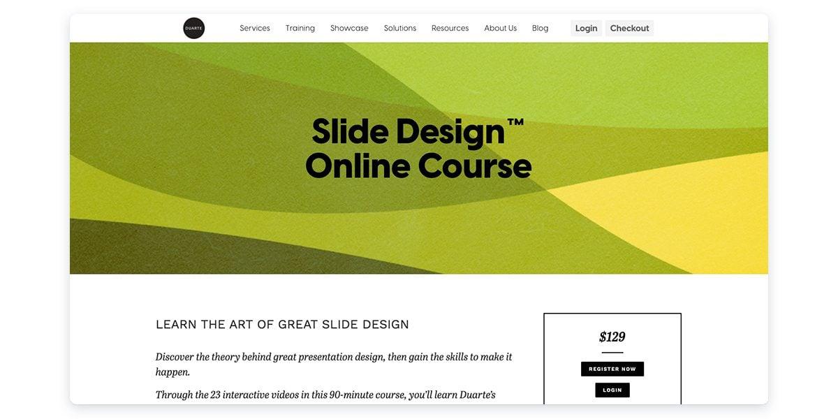 Slide Design Online Course with Duarte