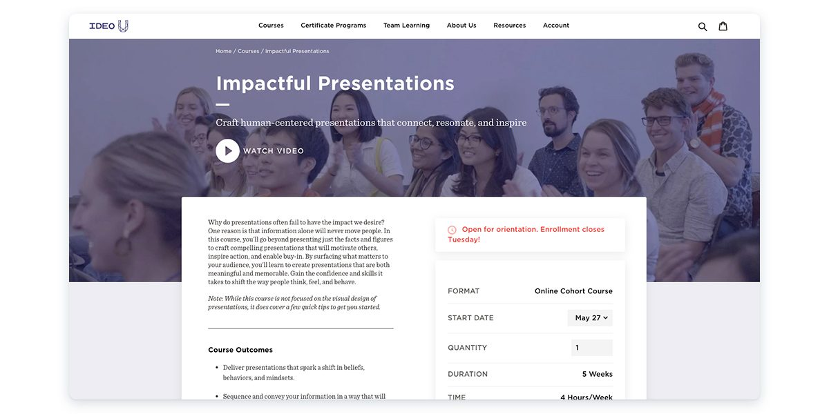 Impactful Presentation with Ideo