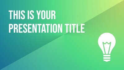 Free professional Powerpoint template or Google Slides theme with green gradients