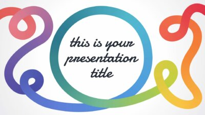 Free playful Powerpoint template or Google Slides theme with rainbow scribbles