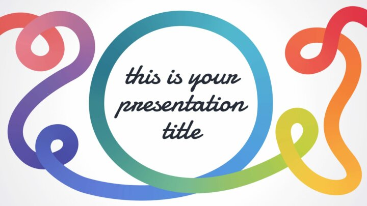 Rainbow Line. Free PowerPoint Template and Google Slides Theme.